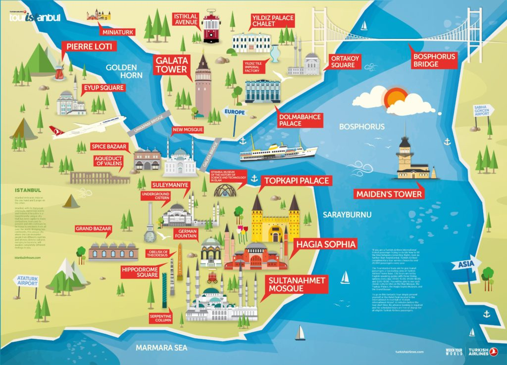 Istanbul Old City Bosphorus Map Istanbul Travel Guide